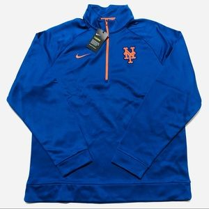 Mets Nike Therma Top Half Zip Pullover Jacket Blue